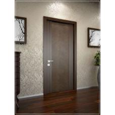 Двери Ego 01.03.032.03 эбони, коричневая кожа