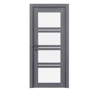 Modern Quadro со стеклом каштан серый