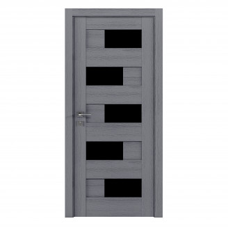 Modern Verona полустекло BLK каштан серый