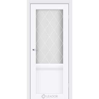 Дверь Leador Laura  белый матовый со стеклом