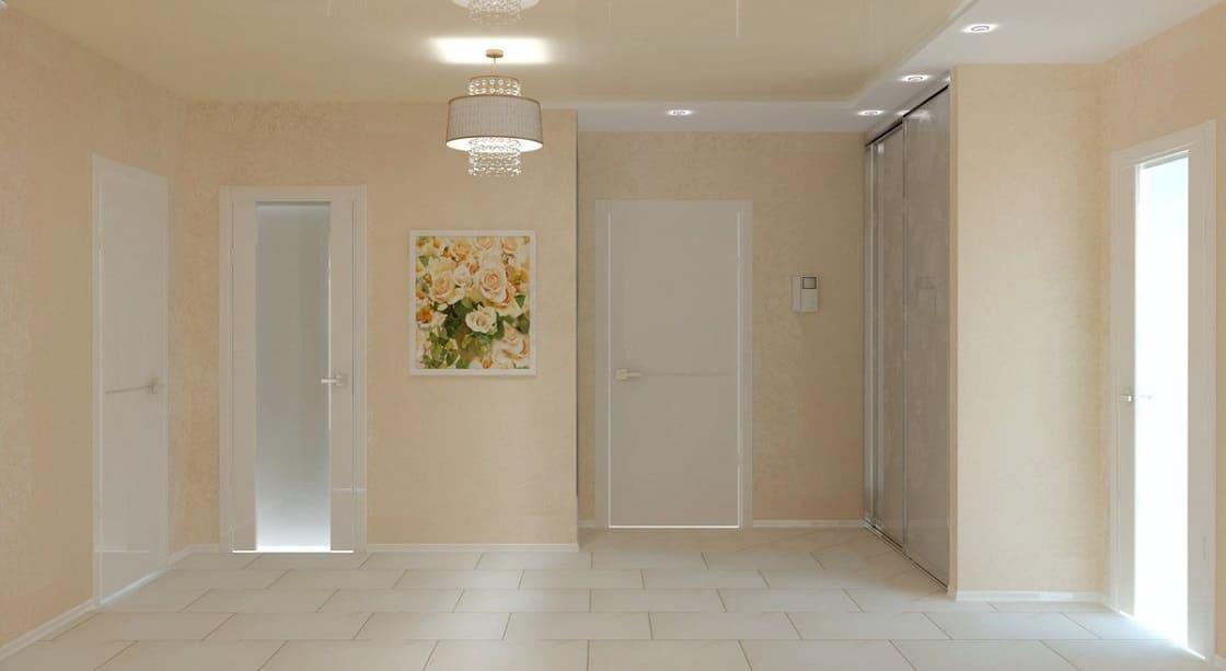 Интерьер квартиры со светлыми дверями